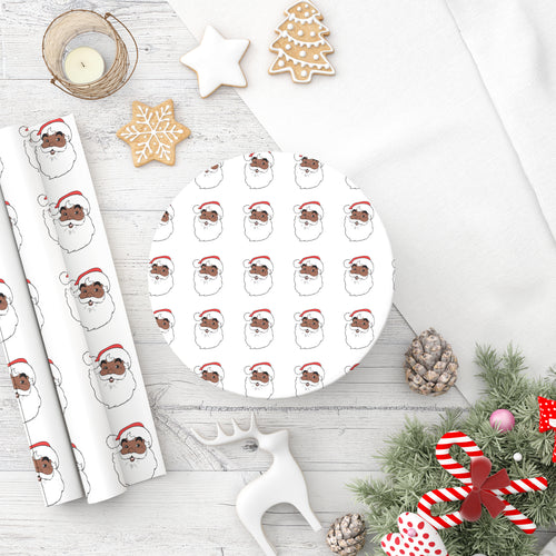 Santa Wrapping Paper Roll