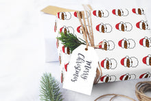 Emoji Santa Wrapping Paper Roll