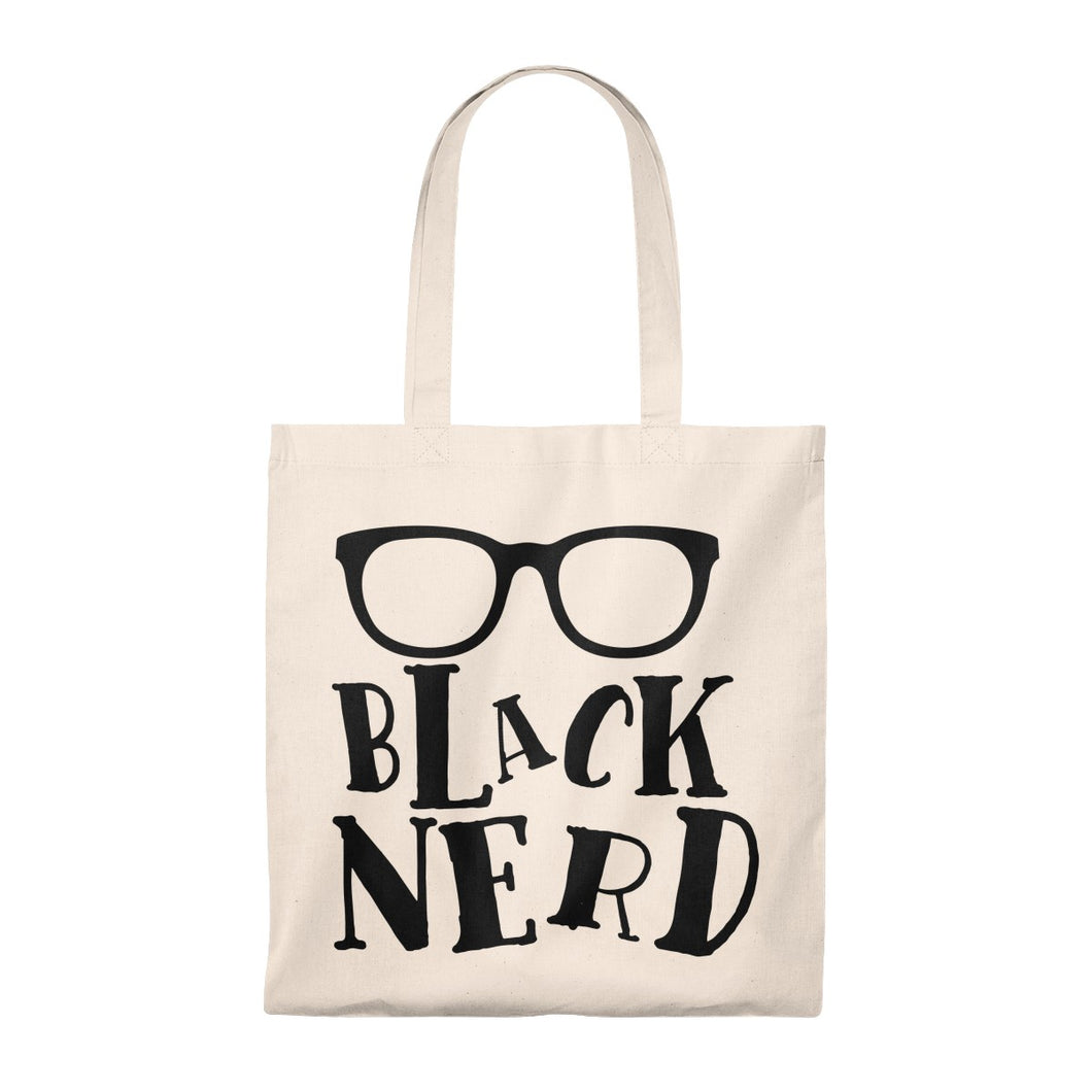 Black Nerd Tote Bag - Vintage