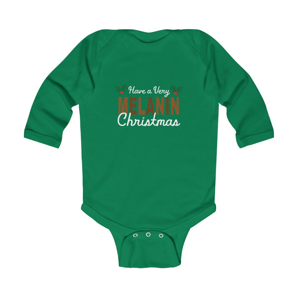 Have a Very Melanin Christmas Long Sleeve Bodysuit