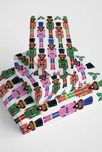 Chocolate Nutcracker with Mistletoe Wrapping Paper Roll