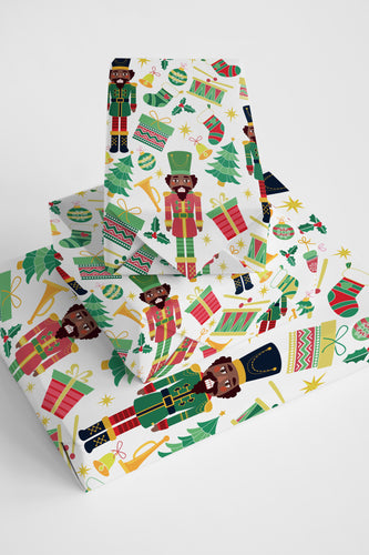 Chocolate Nutcracker Wrapping Paper Roll