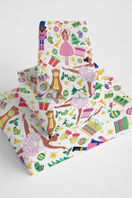 Chocolate Nutcracker Wrapping Paper_Pink Roll