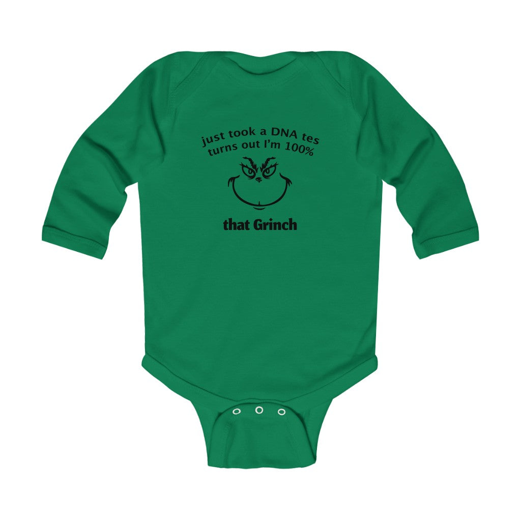 100% That Grinch Long Sleeve Bodysuit