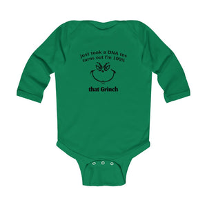 100% That Grinch Christmas Long Sleeve Infant Bodysuit