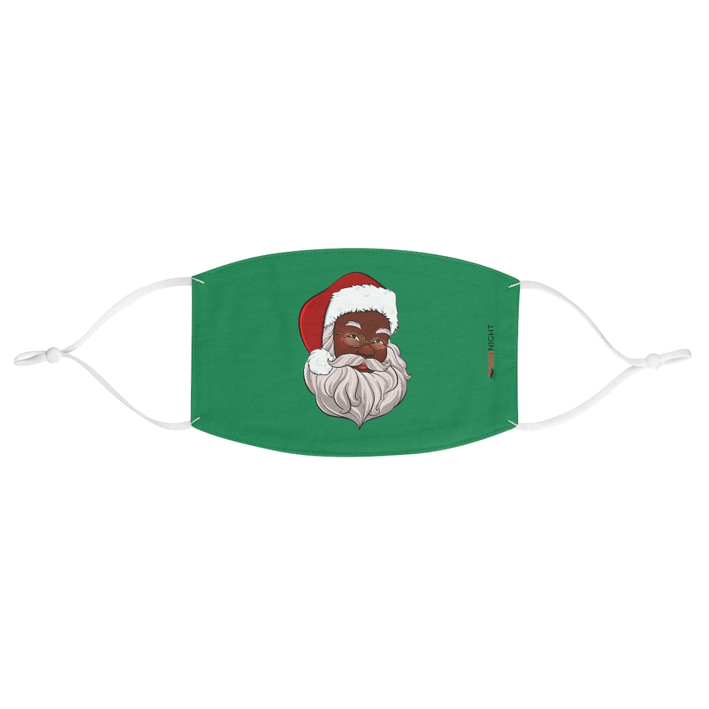Black Santa Fabric Face Mask