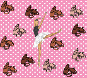 Melanin Ballerina Pointe Shoes Polka Dots Wrapping Paper Roll