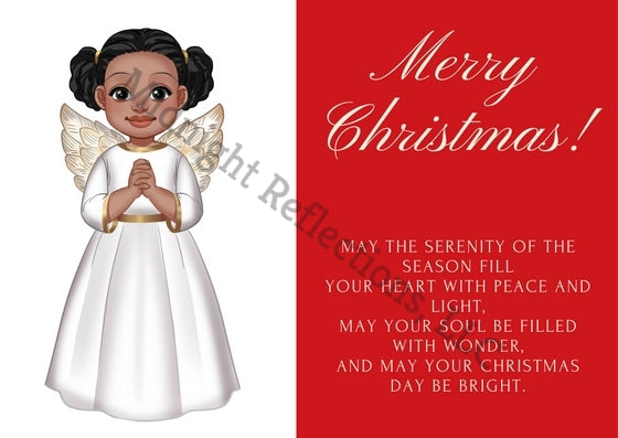 Angel Folded Christmas Card (10 Pack)
