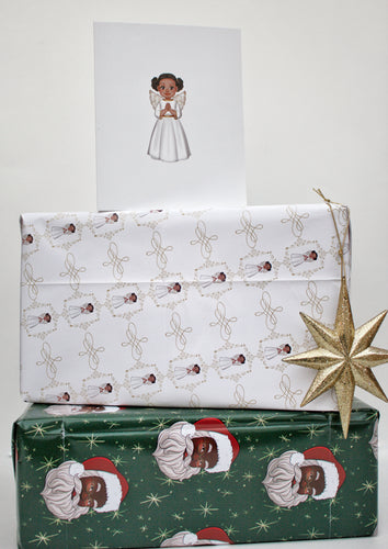 Black Angel Wrapping Paper Kit