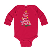 We Wish You a Melanin Christmas Long Sleeve Bodysuit