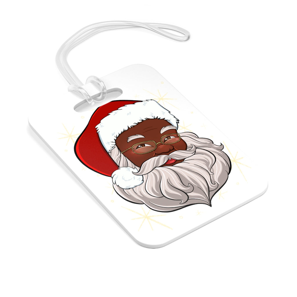Black Santa Bag Tag