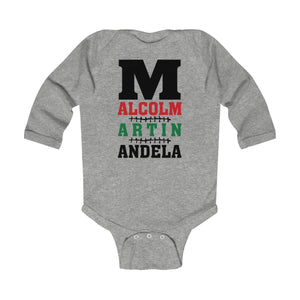 M is for Malcolm, Martin, & Mandela Long Sleeve Bodysuit