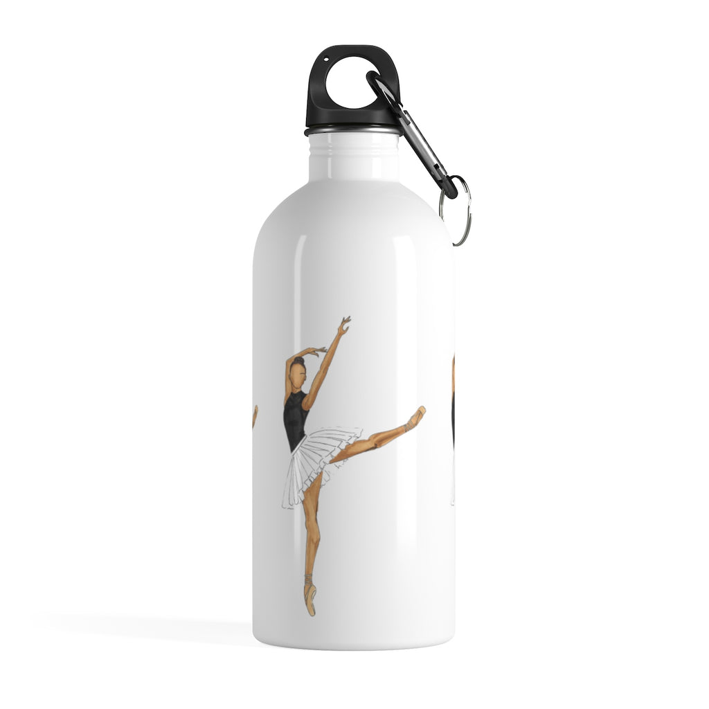 Melanin Prima Ballerina Stainless Steel Water Bottle