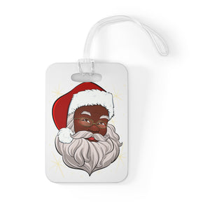 Black Santa Claus Bag Tag