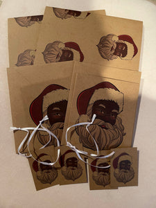 Black Santa Claus Wrapping Paper Kit_ Eco Friendly Recycled Paper