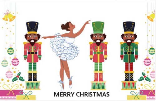 Chocolate Nutcracker Christmas Card