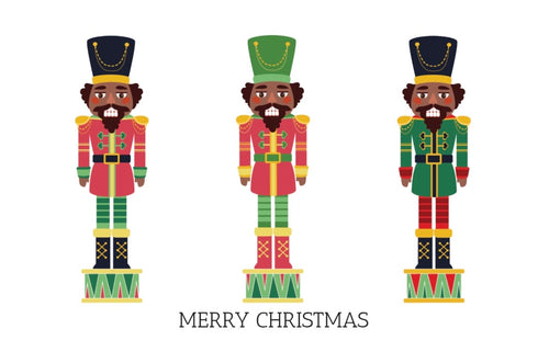 Chocolate Nutcrackers Christmas Card