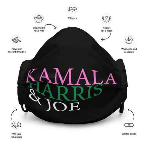 Kamala Harris and Joe Face mask