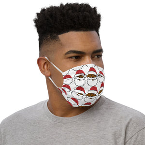 Emoji Black Santa Claus Face mask