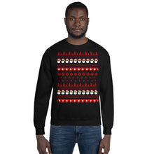 Ugly Christmas Sweatshirt with Black Santa Claus