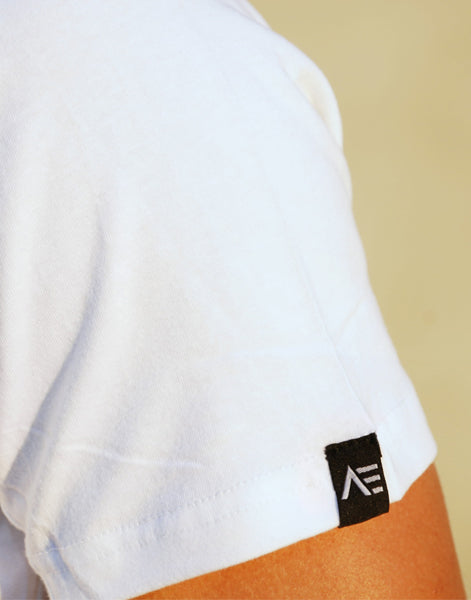 SIDE PANEL TEE - WHITE