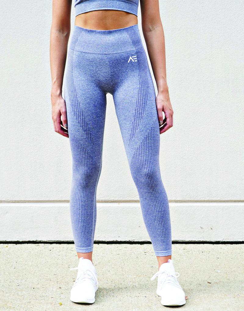 DOMINATE SEAMLESS LEGGINGS - GRAY