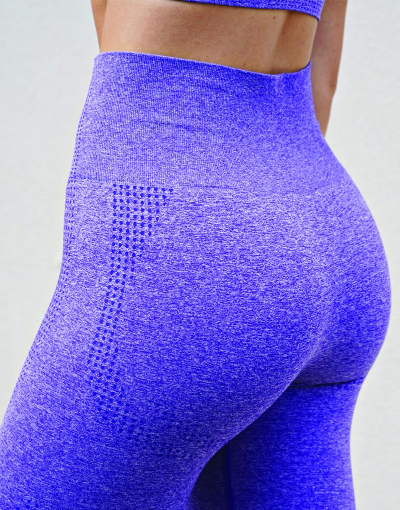 DOMINATE SEAMLESS LEGGINGS - PURPLE