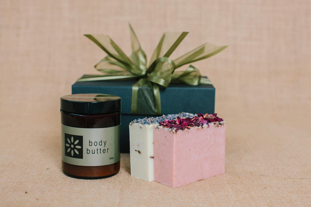Body Butter & 2 Soap Bars Gift Pack - Soothe Essential Natural Products