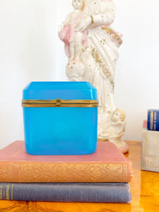Blue French Opaline Box
