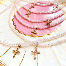Diamond Cross - Light Pink