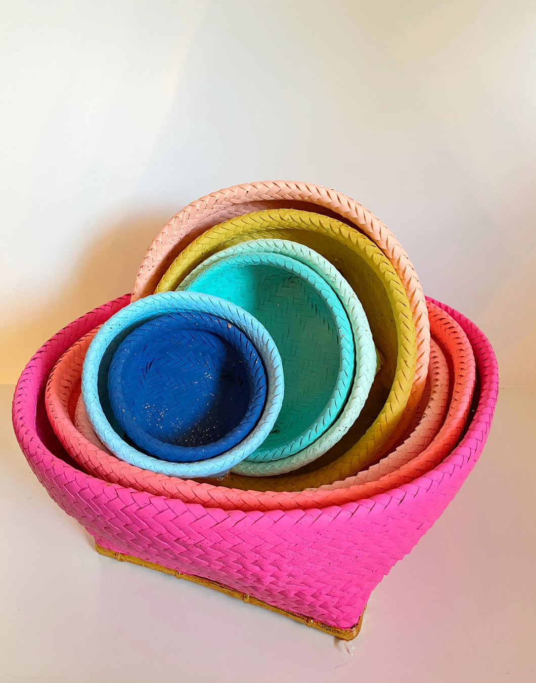 Rainbow Nesting Baskets