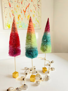 Rainbow Sisal Trees - Medium