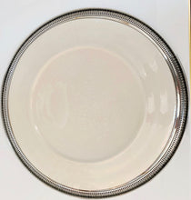 Floral Plate in Sterling Setting
