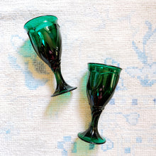 Noritake Emerald Sweet Swirl Glasses