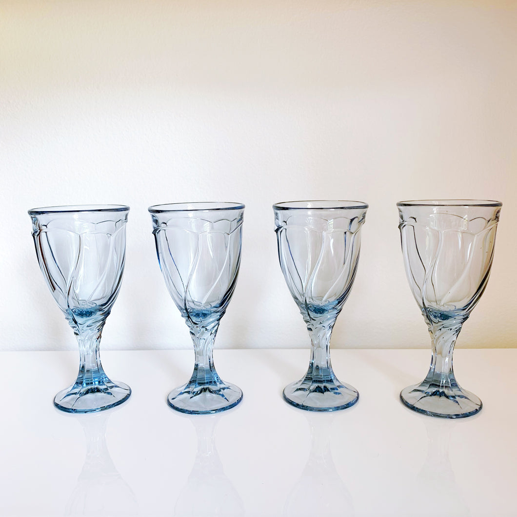 Noritake Light Blue Sweet Swirl Glasses