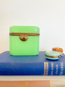 Mint Green French Opaline Box