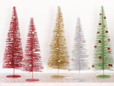Lg Metallic Ornament Trees