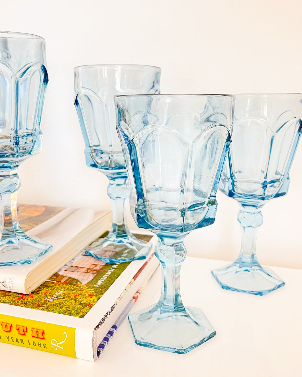 Light Blue Wine Glasses