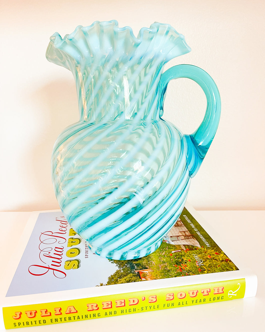 Blue Topaz Swirl Pitcher