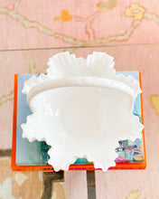 Lg Milk Glass Bread Basket