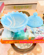 Blue & White Covered Candy Bowl