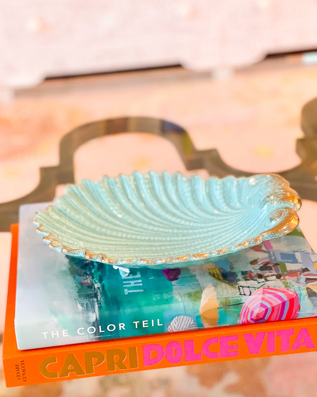 Turquoise Shell Bowl