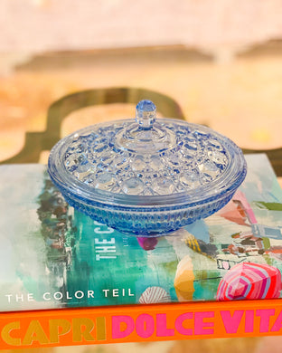 Periwinkle Covered Candy Dish