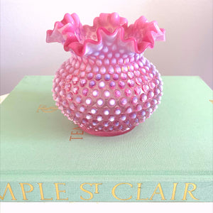 Light Cranberry Hobnail Vase