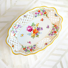 Bavaria Dresdner Reticulated Oval Dish