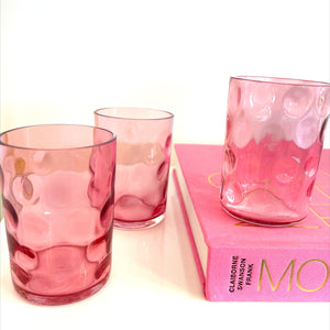 Cranberry Pressed Tumblers