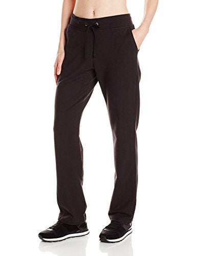 Hanes Women's French Terry Pant, Black, Medium