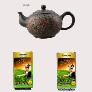 Clay Teapot With KuabChua Royal Healtea