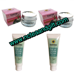 KuabChua Rejuvenate Cream With Repair and Anti-Falling Hair Serum BUNDLE