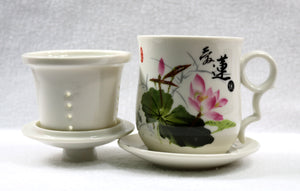 Water Lily Flower Teacup Set